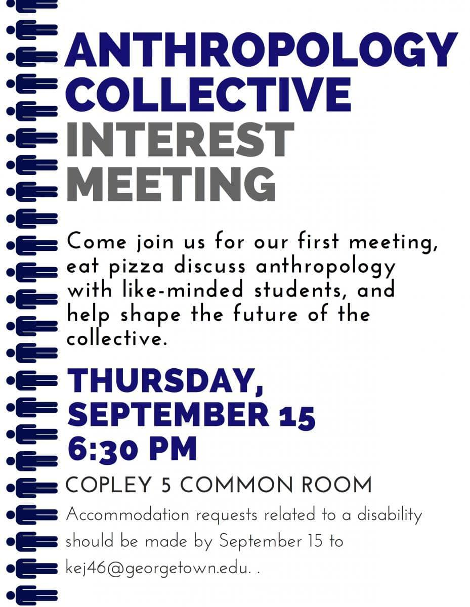 Anthro Collective Interest Meeting Flyer