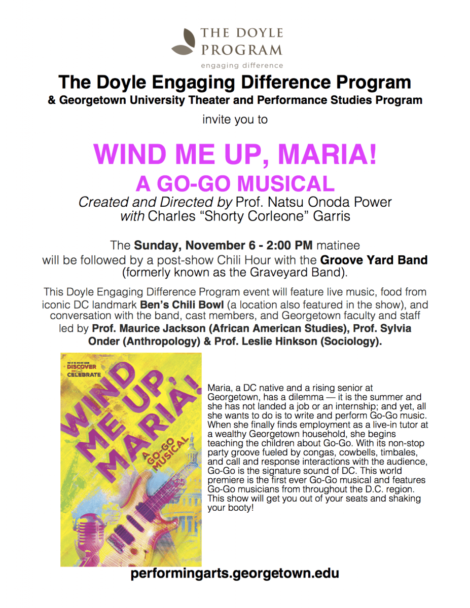 Wind me up Maria musical flyer