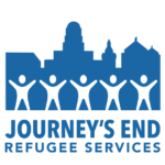 Logomark for Journey's End Refugee Services